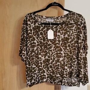 From Kim Ks closet Michael Stars Leopard top